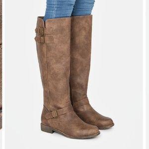 Justfab Jurnee Brown Tall Boot 8.5 Ecu